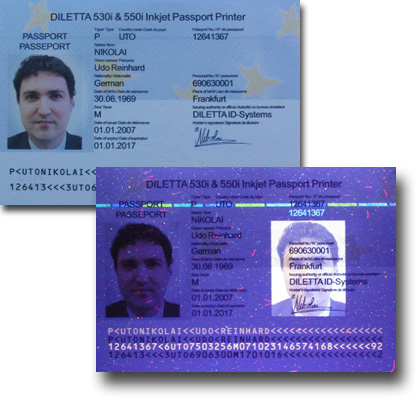 Passport with UV Ghost Image