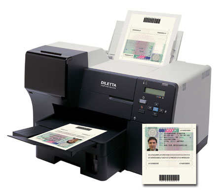 Diletta Visaprinter Secure Document Printer
